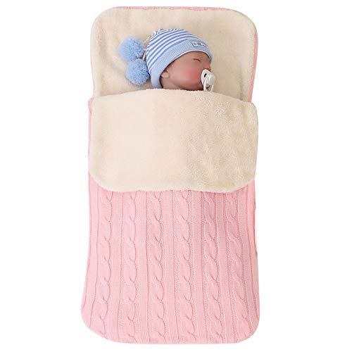 Saquito para bebé, forro polar, ideal para cochecito, manta para bebé, para 0-12 meses, unisex