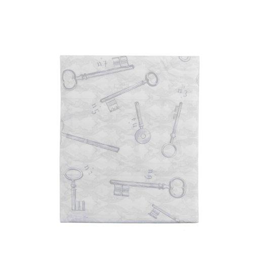 Essix - Drap Plat Secret Percale de Coton Gris perle 240 x 300 cm