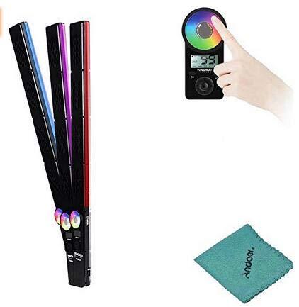 YONGNUO YN360III 3200-5500K Zweifarbiges + RGB-Handheld-LED-Videolicht Dimmbarer Fülllichtbalken Berührungsanpassungsmodus CRI 95+ mit 10 zusätzlichen Beleuchtungsmodi mit Fernbedienung