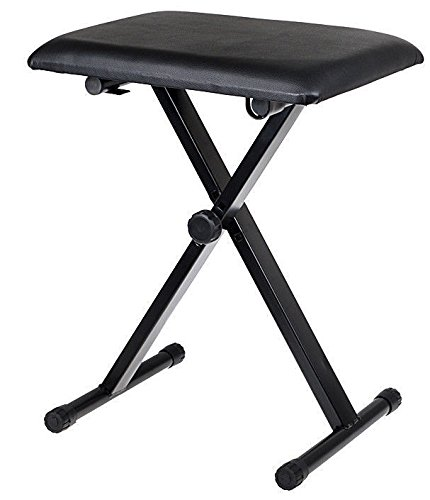 Find Discount Black Adjustable Piano Keyboard Bench Leather Padded Seat Folding Stool Chair