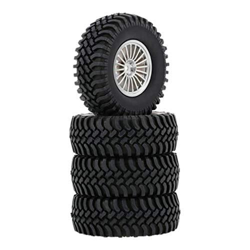 Universal 4pcs 1/10 Scale Off Road Buggy Neumáticos Llantas de Rueda 100 mm 20 Agujeros