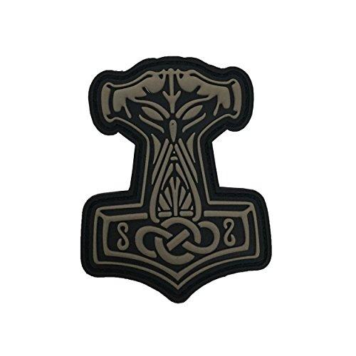 Jackets To Go JTG Thors Hammer Mjölnir Valhalla Patch, tan / 3D Rubber Patch