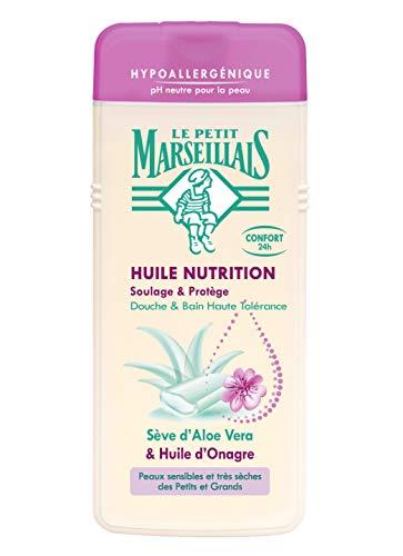 Le Petit Marseillais Dusche, hypoallergen mit Aloe Vera, Nachtkerzenöl, 650 ml