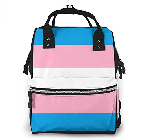 Transgender LGBT Stripe Diaper Bags Fashion Mummy Backpack Multi Functions Large Capacity Nappy Bag Nursing Bag for Baby Care for Traveling