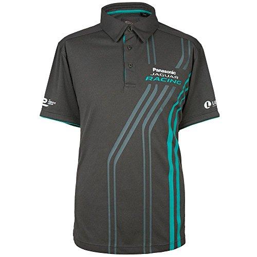 Jaguar Herren Poloshirt 50jdpm04 Panasonic, Racing XL grau
