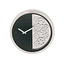 Benzara Antique Colonial Fashionable Stainless Steel Gear Wall Clock