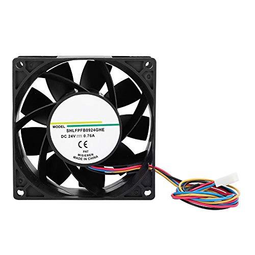 Ventilador de enfriamiento, Ventilador de enfriamiento 24V 0.76A 9CM Sistema de enfriamiento Accesorio industrial para equipos mecánicos, Ventilador de disipador de calor para equipos industriales, Eq