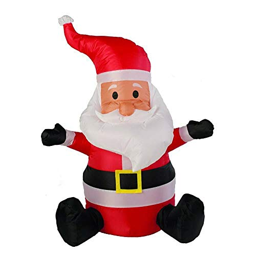 5FT Christmas Blow Up Yard Inflatable Costume Holiday Cosplay Outdoor Decoration XINdream Waving Gingerbread Man with Candy Canes