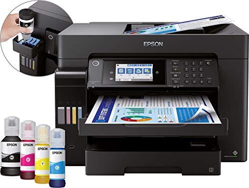Epson EcoTank ET-16650 4-in-1 Tinten-Multifunktionsgerät (Kopie, Scan, Druck, Fax, A3, ADF, Full-Duplex, WiFi, Ethernet, Display, USB 2.0), großer Tintentank, hohe Reichweite, niedrige Seitenkosten