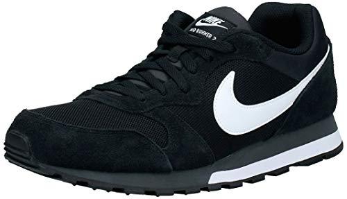 Nike MD Runner 2, Zapatillas Hombre, Negro (Black/White Anthracite), 43 EU