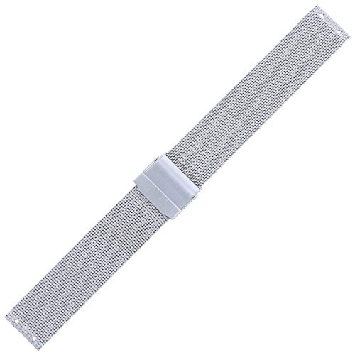 Skagen Uhrenarmband 18mm Edelstahl Silber - 355LGSC