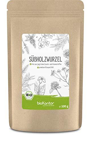 Süßholzwurzel BIO 500g | Süßholz getrocknet und geschnitten I Süßholzwurzel Tee I Lakritz Tee - 100% natürlich ohne Zusatzstoffe von bioKontor