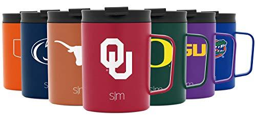 Simple Modern 340 ml Scout Tasse mit Klappdeckel – Die Universität von Oklahoma – Kaffeetasse Reise Edelstahl – Geschenke für Männer Frauen Papa Vatertag NCAA Oklahoma Sooners