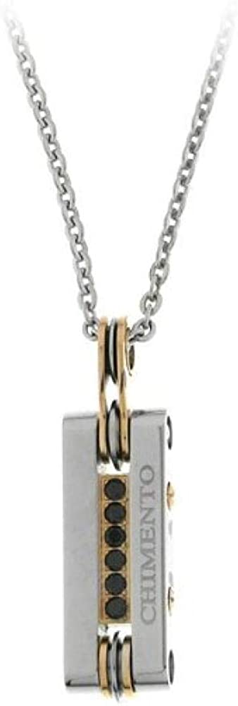 Chimento,collana per uomo in acciaio e pvd rosa,con pendente centrale 3GX8980WW7500