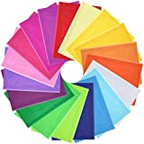 PLULON 114 Sheets Coloured Tissue Paper 19 Mixed Colors Gift Wrapping Paper Sheets Crepe Paper Art Tissue Paper for DIY Gift Boxes Fillers Gift Boxes Decoration Wedding Party