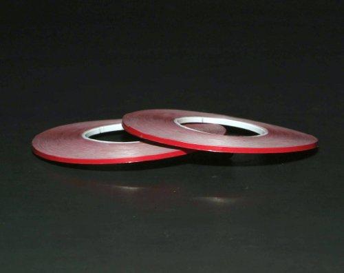 1/16 Tape 2 Pack Red Matte Chart Tape/Whiteboard Gridding Tape/Artist Tape/Model Hobby Tape/Dry Eraser Board Tape