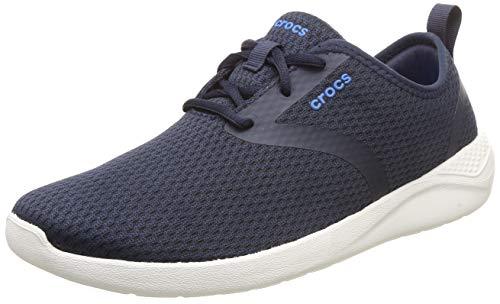 crocs Herren Literide Mesh Lace M Sneakers, Blau (Navy/White 462b), 43/44 EU