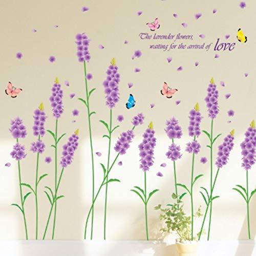skwff Familie Muursticker Aanbieding Muursticker Lavendel Muursticker eco-vriendelijke Woonkamer Slaapkamer Slaapbank Verwijderbaar