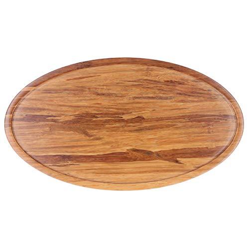 Cosiki Tea Platter, Tea Plate, Environmental Protection Japanese Style Durable Anti ‑ Slip Elegant for Restaurant Home(Oval tray small)