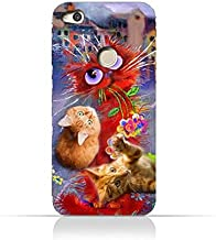 Huawei P9 Lite 2017 TPU Protective Silicone Case with Adorable Cute Cats Design
