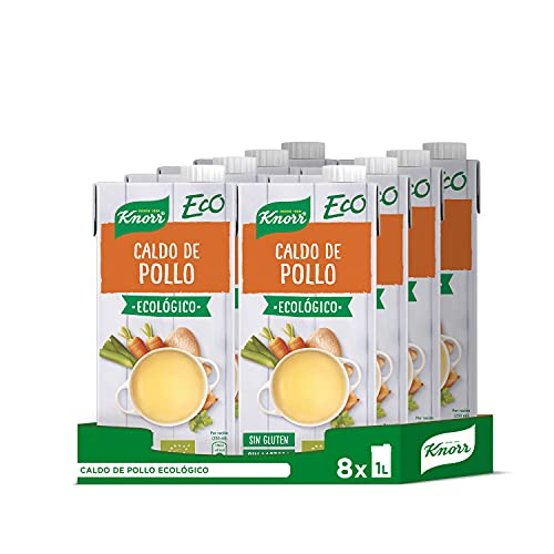 Knorr Caldo de pollo - Pack de 8 x 1000 ml (Total de 8L)