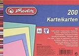Herlitz 10836211 - Paquete de 200 notas rayadas A6, multicolor