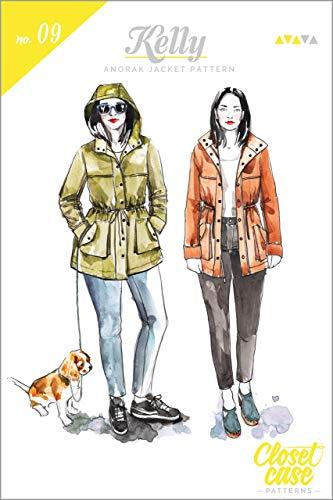Kelly Anorak Jacke – Mittleres Schnittmuster von Closet Case | Einfaches Nähmuster-Design | Damen Kapuzenjacken-Muster | UK (32-52) US (0-20) EU (32-52)