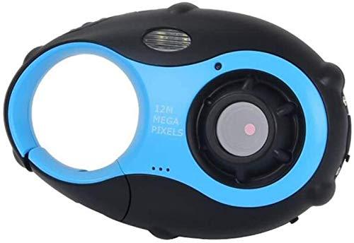 Woodtree Los niños de la cámara Linda cámara de 12MP cámara Digital con Zoom Digital 4X con vídeo for la Limpieza y los niños, los niños (cámara con Marco de Fotos) Azules