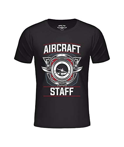 T-shirt AC navigatie zwart, vliegtuignavigatie