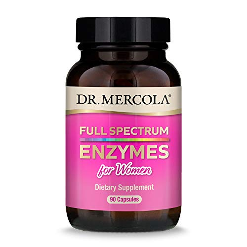 Dr. Mercola  Full Spectrum Enzymes for Women Dietary Supplement  90 Servings (90 Capsules)  Provides Digestive Support  Non GMO  Soy Free  Gluten Free