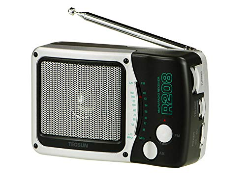 IGRNG Radio R208 Dual-Band-AM/FM-Taschen-D-Batterie Hochempfindlicher Desktop-Radio-Digitalempfänger