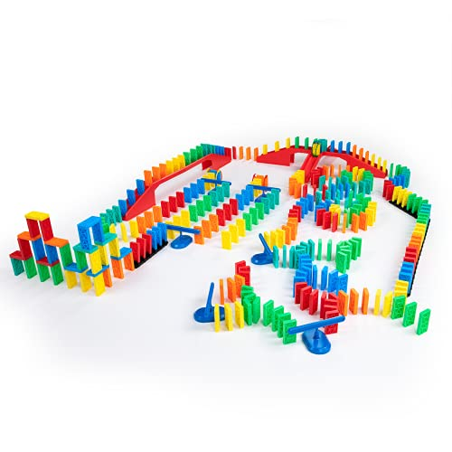 Bulk Dominoes 331pcs Kinetic Domino Kit   Dominoes Set, STEM STEAM Small Toys, Family Games for Kids, Kids Toys and Games, Building, Toppling, Chain Reaction Sets