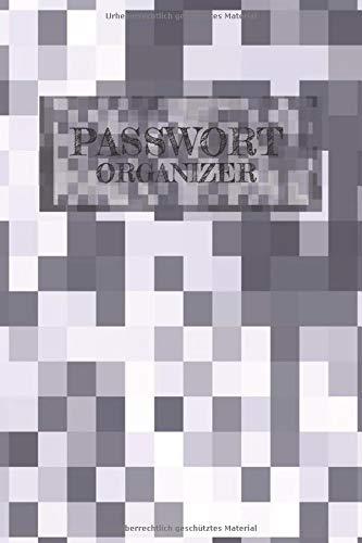 Passwort Organizer: Schließe deine Passwort sicher ein | Notizbuch mit Register | Pixel Muster