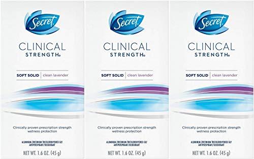 Secret Clinical Strength Antiperspirant Deodorant Solid, Ooh-la-la Lavender 1.60 oz (Pack of 3)