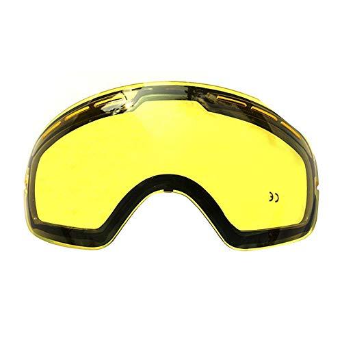 Dubbelheldere skibril, professioneel, gepolariseerd, kan samen met andere brillen worden gebruikt.