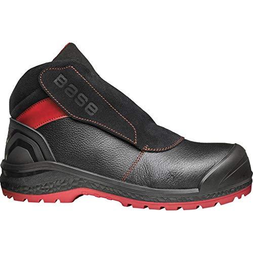 Base 1 veiligheidsschoenen, zwart en rood, 43