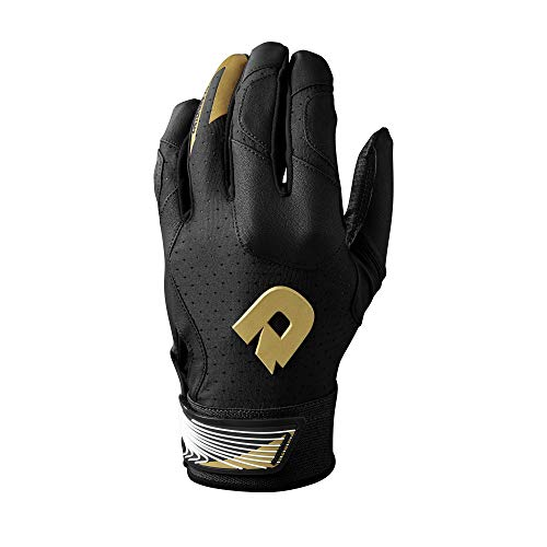 DeMarini CF Batting Gloves, Black - Small