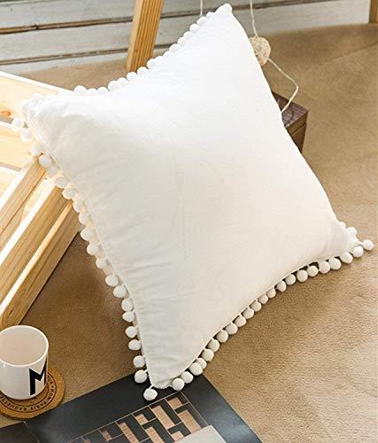 Hugyou Funda de almohada de personalidad, funda de cojín, color blanco