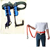CHENGL Tree Climbing Tool,Gear Tree Climbing Spike Set, Safety Belt Adjustable Lanyard Rope Rescue Belt, Pole Climbing Trees Artifact, Tree Climbing Tool for Hunting Observation, Picking Fruit