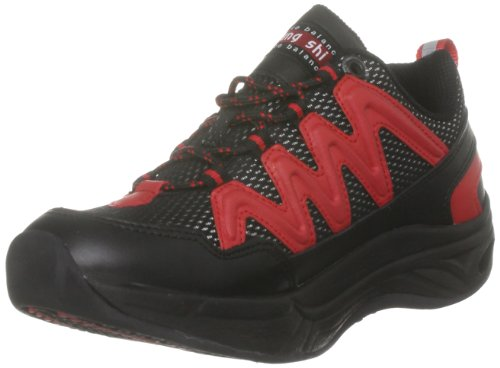 Chung Shi Unisex Comfort Step Magic Walkingschuhe, Schwarz Rot, 38 EU