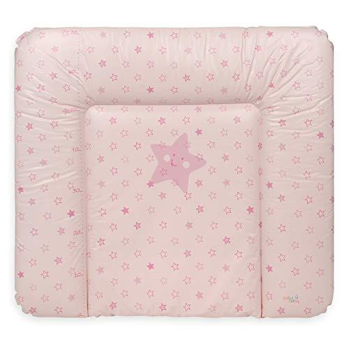 Ceba Baby Fasciatoio Materassino morbido Fasciatoio 70x50 cm, 70x75 cm, 70x85 cm Cuscino Fasciatoio Lavabile per bambine e bambini - Rosa 70 x 85 cm