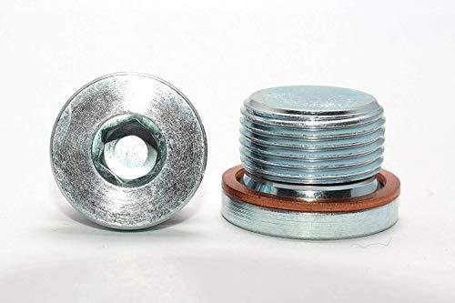 Verschlussschrauben mit Feingewinde und Kupferdichtung DIN 908 Stahl galv. verzinkt Blindstopfen in Verzinktem Stahl 1 Stück M18x1.5