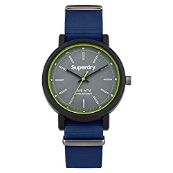 Silicone-covered watch featuring round grey dial with lime accents at outer ring and seconds hand 39 mm plastic case with plastic dial window Quartz movement with analog display Silicone band with buckle closure Water resistant to 50 m (165 ft): In g...