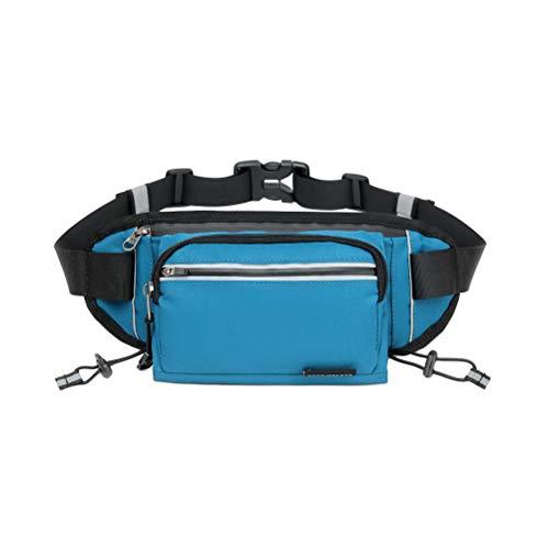 LIOOBO Bolsa de Cintura al Aire Libre Caldera Multifuncional Almacenamiento de teléfono Bolsa de Cintura para Correr Deporte (Azul)