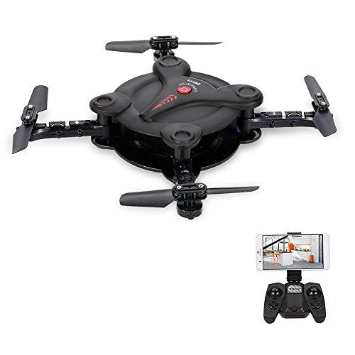 Goolsky FQ777 FQ17W Drone avec Caméra 0,3MP 6 Axes Gyro Mini Wifi FPV Pliable de Poche G-sensor RC Quadcopter Maintien de l'Altitude