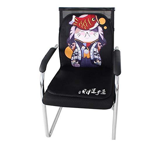 FUFU Funda de asiento calefactable universal para silla con un teclado, conexión de mando a distancia, para oficina y sofá, para todas las estaciones (color: negro)