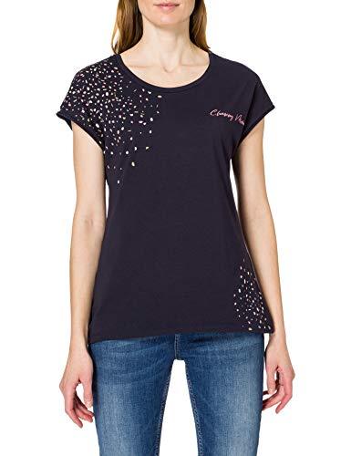 edc by ESPRIT Damen 031CC1K336 T-Shirt, 400/NAVY, XL