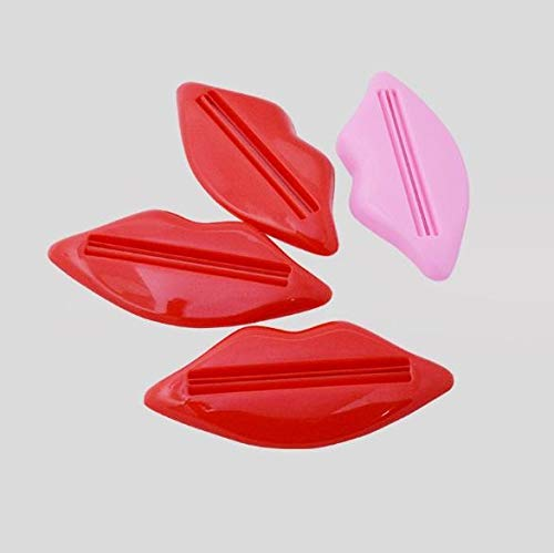 Luckyrainbow, 6 exprimidores creativos para pasta de dientes labiales multiuso, dispositivo de extrusión, gel de pasta de dientes, crema y loción exprimidor de tubo cosmético (color al azar)