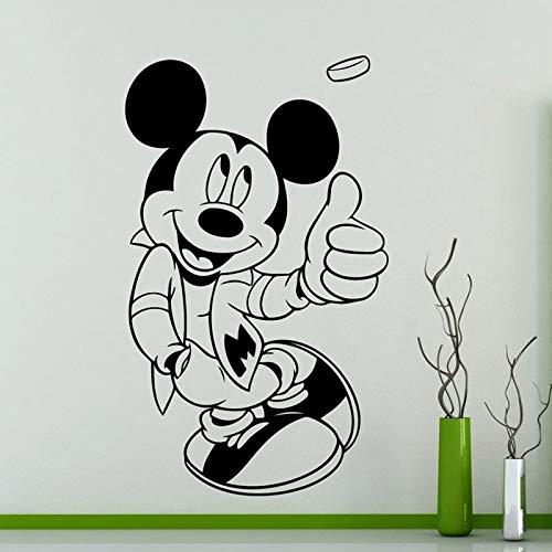 Yaonuli muurstickers voor de decoratie van kinderkamers op school of op de kleuterschool, muursticker met cartoon-motief, muis, muursticker voor kinderkamer