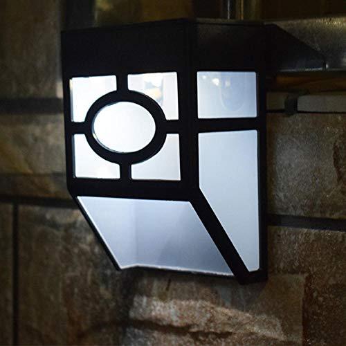 Illuminazione Esterna Led Moderno Più Nuovo Tipo Durevole Pvc Luce SolareMontaggio AParete All'Aperto Recinzione A Parete Solare Giardino Percorso Paesaggio Recinzione Cortile Lampada